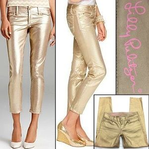 Lilly Pulitzer Jeans - Lilly Pulitzer - Metallic Coated Skinny Mini Jeans